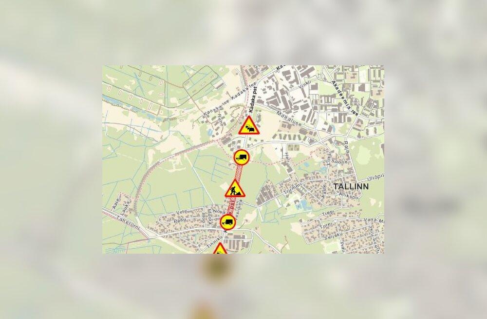 КАРТА | Из-за опасности обвала в Таллинне на два месяца закрывают участок оживленной трассы