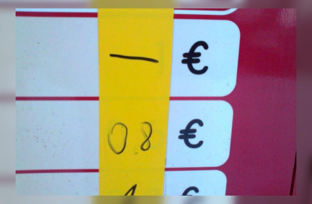 0,8 asemel oli enne 0,6 eurot