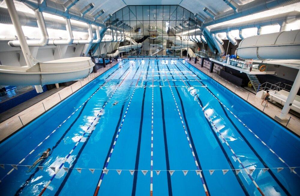 Kalev Spa 50-meetrise basseini kohale ehitati nüüd jõusaal, mis on peegelseinaga eraldatud.