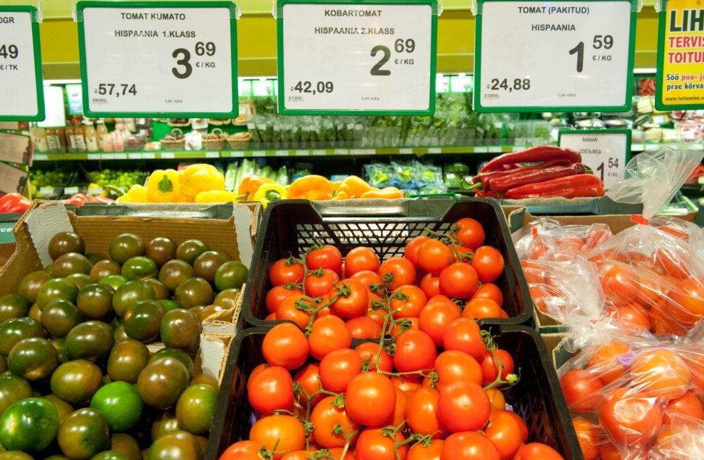 Toidukaupade hinnad Rimis