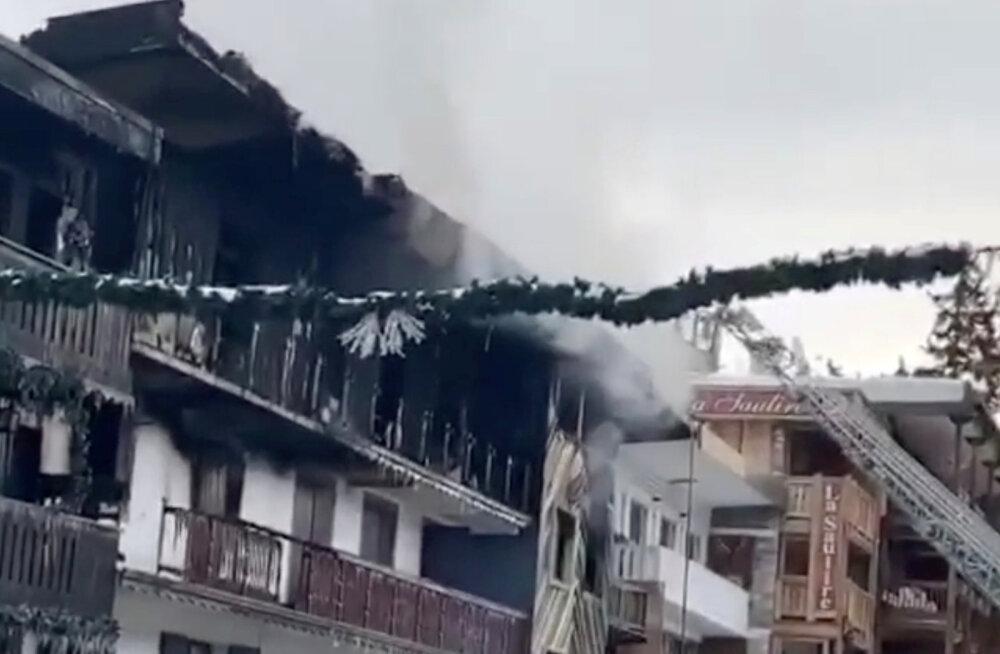Prantsuse Alpides puhkes suusa-kuurordis tulekahju: kaks inimest hukkus