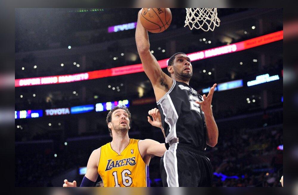 VIDEO: Spurs kordas hooaja pikimat võiduseeriat, 76ers liikus rekordile lähemale