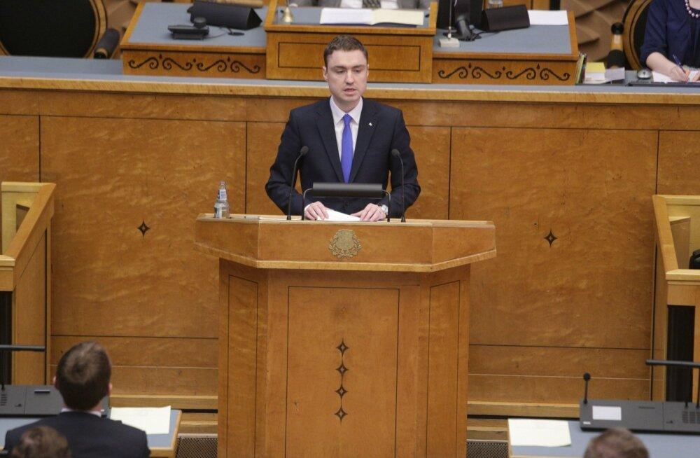 Taavi Rõivas riigikogu ees: esimene suur väljakutse on tagada, et Eesti oleks veel paremini kaitstud
