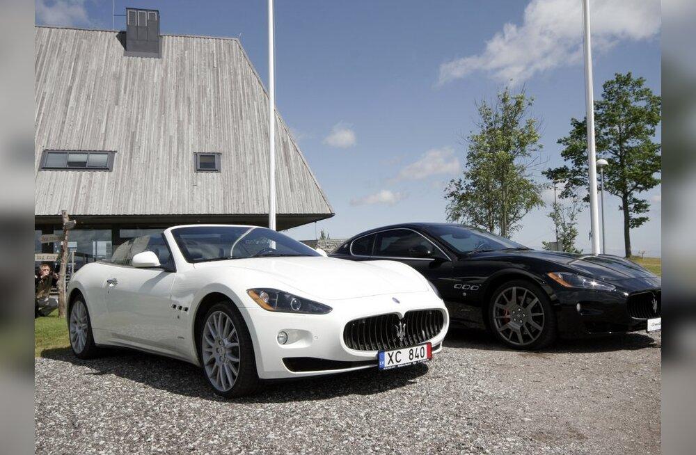 Ihaldusväärsed Maseratid kõrvuti. GranCabrio ja GranTurismo S