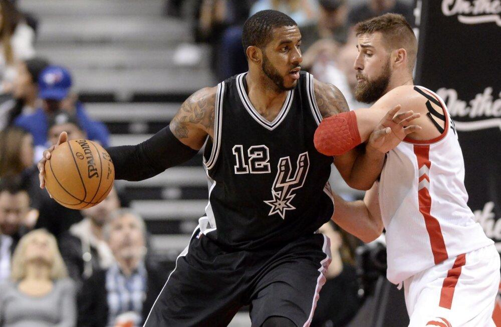 VIDEO: Spurs pikendas võiduseeria viiele mängule, Minnesota võitis lõpusekundikorvist