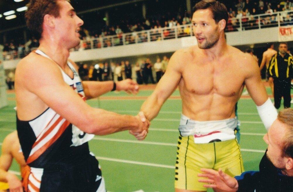 Olid ajad. Roman Šebrle (vasakul) jäi edetabelis Erki Noole ette, kuid kahest legendaarsest kümnevõistlejast on Nool omapärasel põhjusel möödunud.