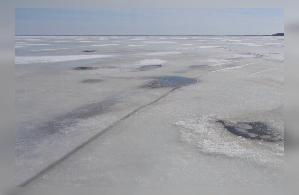 jääolud Peipsil