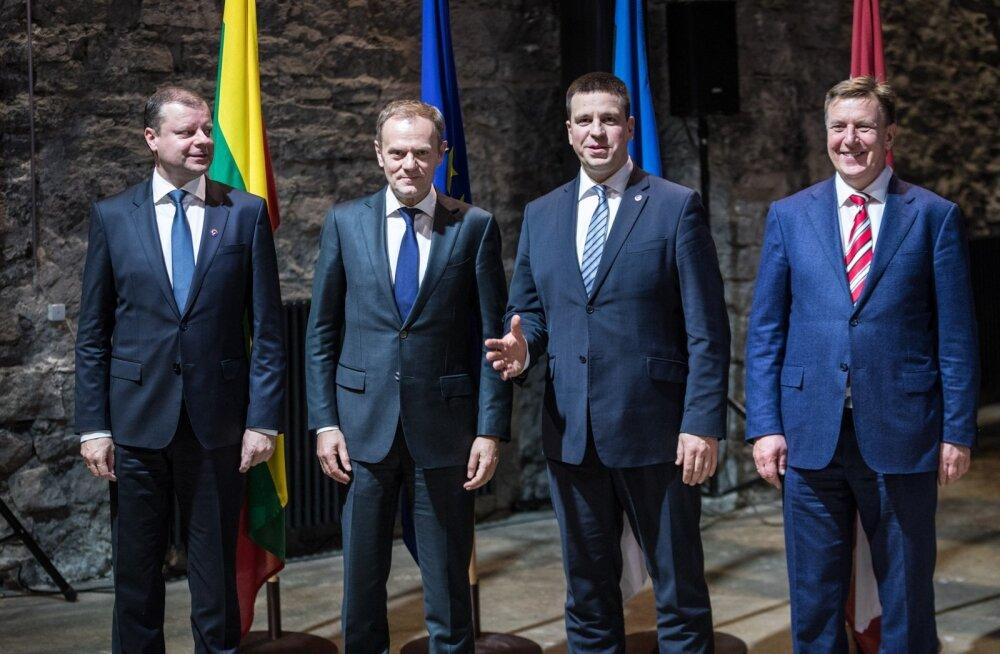 Kolme Balti peaministri ja Euroopa Ülemkogu eesistuja ühine pressikonverents