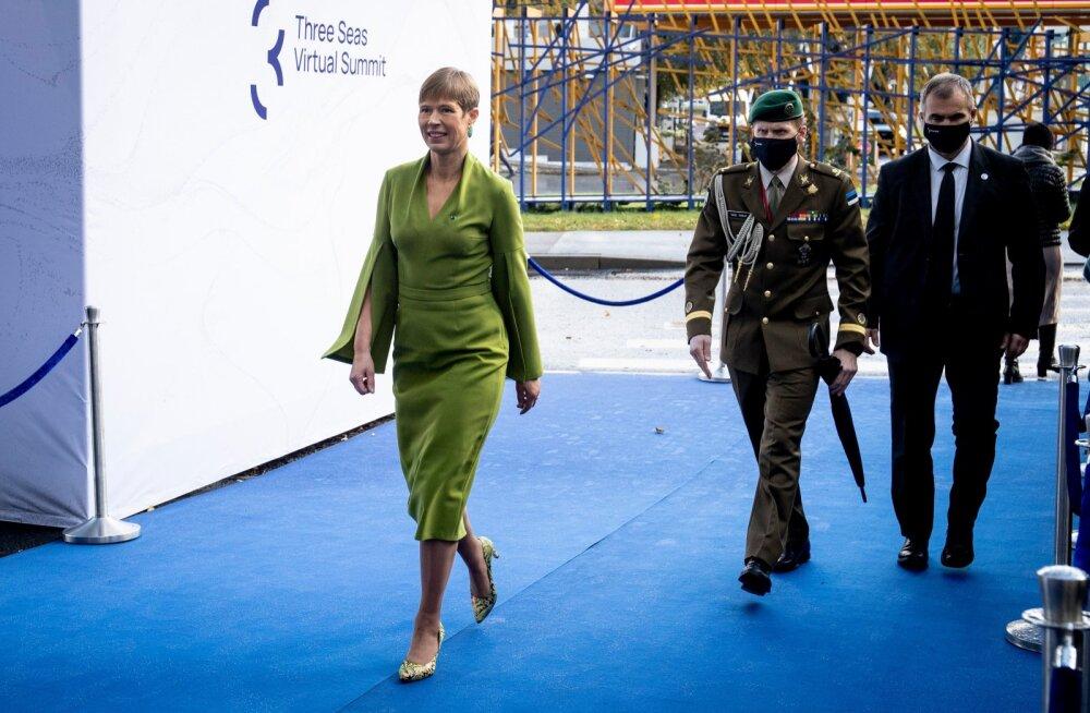 Kersti Kaljulaid kolme mere tippkohtumise alguses