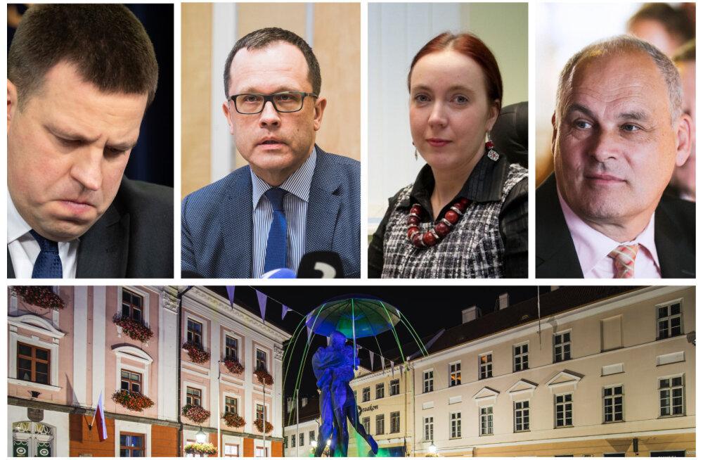 VIDEOD ja FOTOD | Tartu koalitsioon lagunes. Linnapea Klaas: on keeruline näha, kuidas Keskerakond saaks Tartu linna juhtimises osaleda