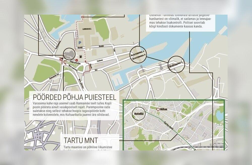 Euroopa siseministrite kohtumine häirib lähipäevil Tallinnas liiklust