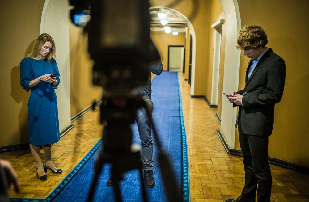 Kaja Kallas ja Tanel Kiik Aktuaalse Kaamera eetris