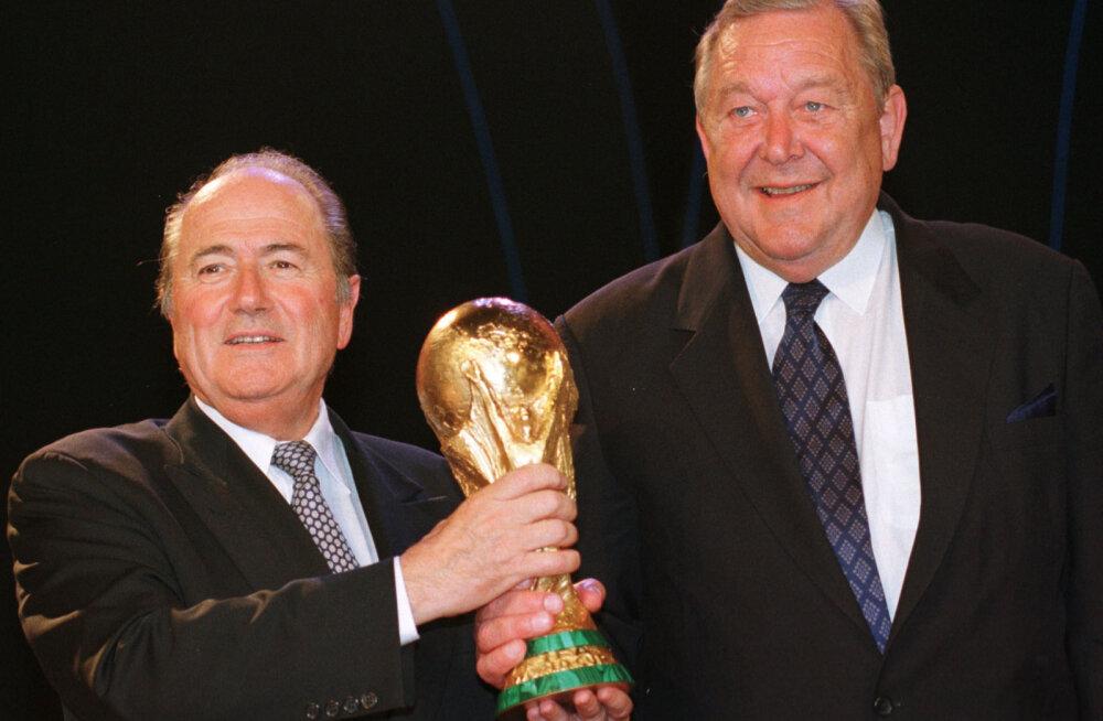 Sepp Blatter ja Lennart Johansson