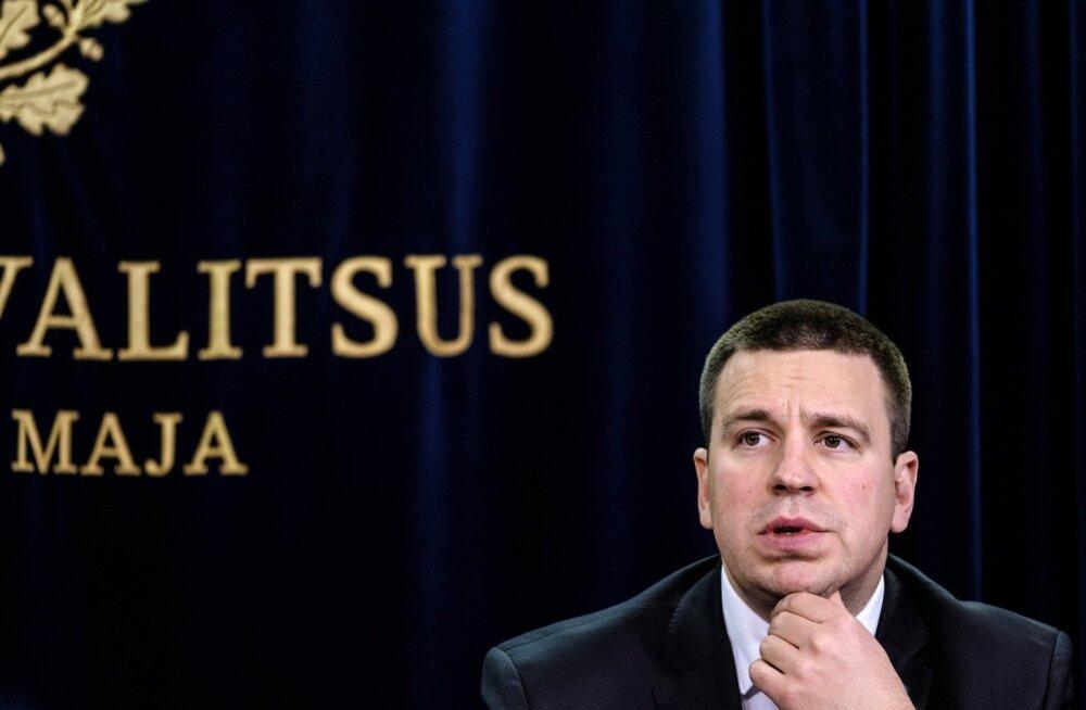 ГРАФИК: Рейтинг Юри Ратаса как премьер-министра упал до рекордно низкой отметки