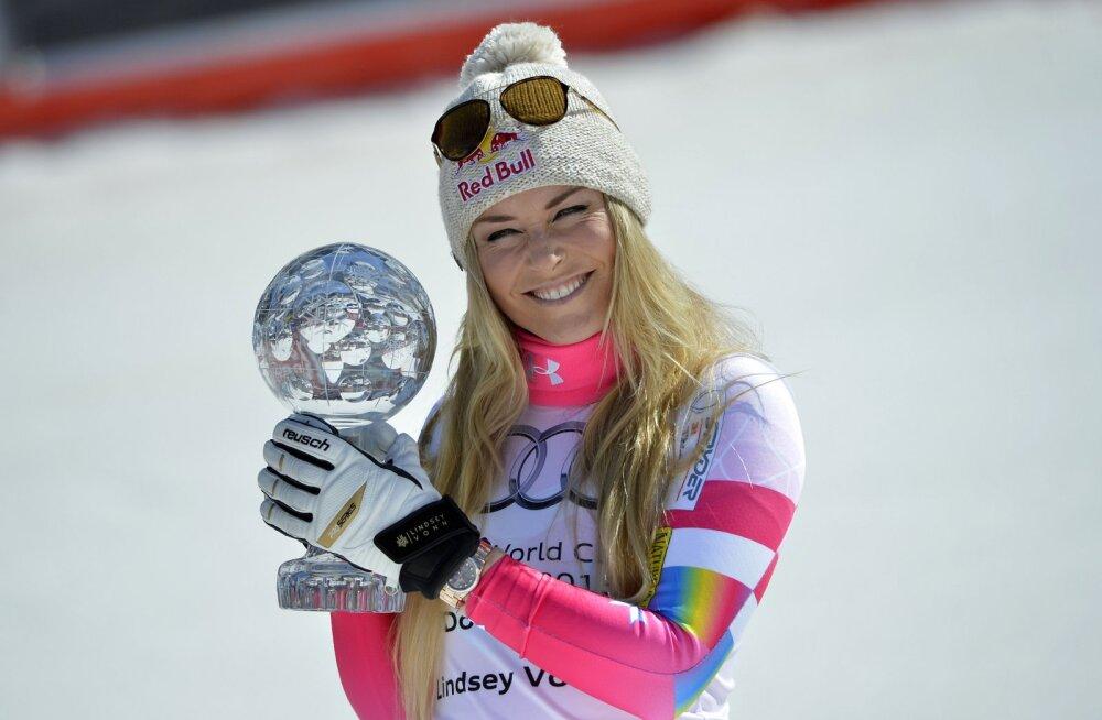 Lindsey Vonni lahutab võimsast rekordist vaid üks võit