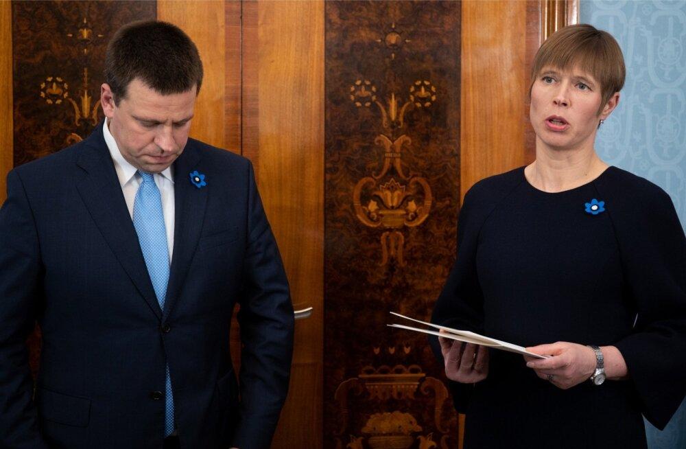 Peaminister esitas presidendile, pea norus, Marti Kuusiku tagasiastumispalve.