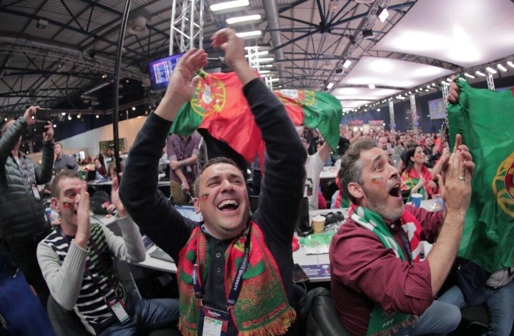 FOTOD: Portugal hullub! Vaata, milline möll, melu ja kaasaelamine käis Eurovisioni pressiruumis ja fännide seas