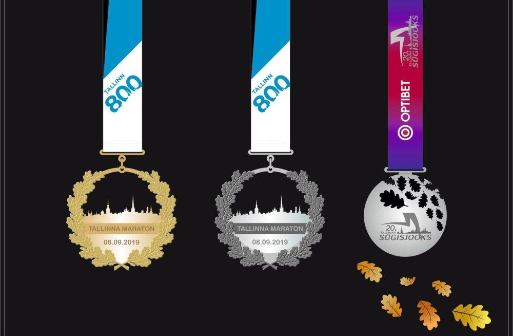 Tallinna jooksumaratoni medalid 2019