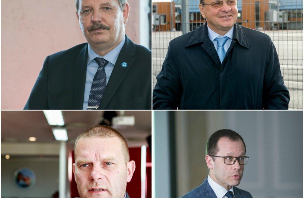 Taavi Aas, Rein Loik, Romek Kosenkranius ja Urmas Klaas.