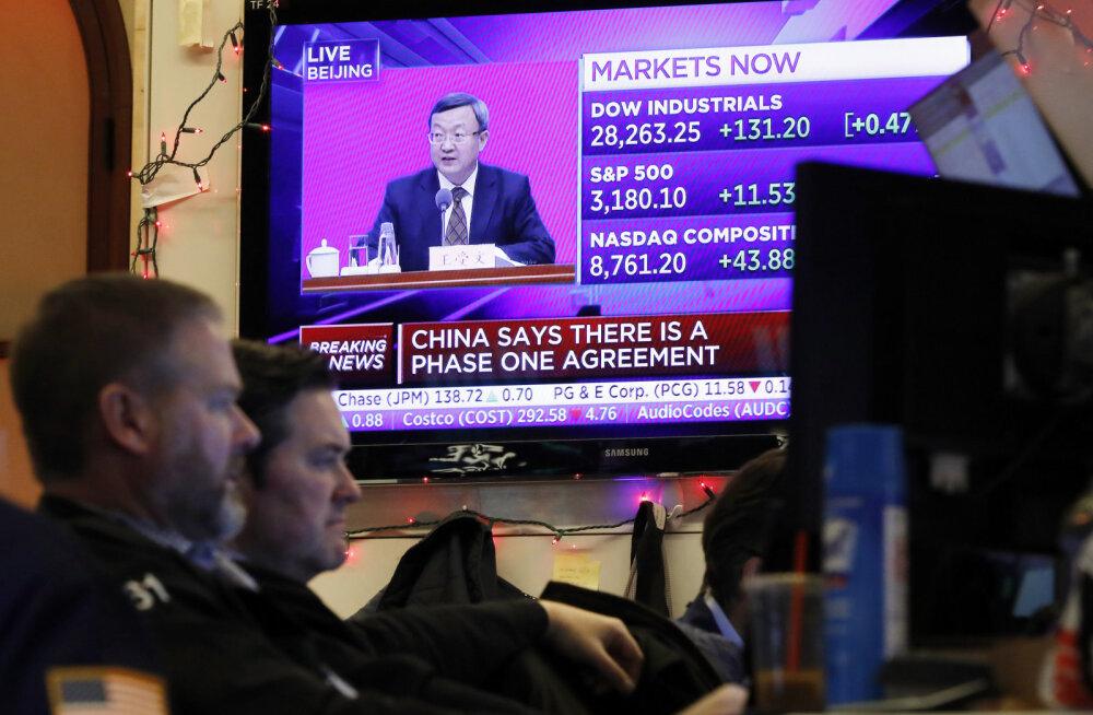 USA ja Hiina jõudsid osalise kaubanduskokkuleppeni