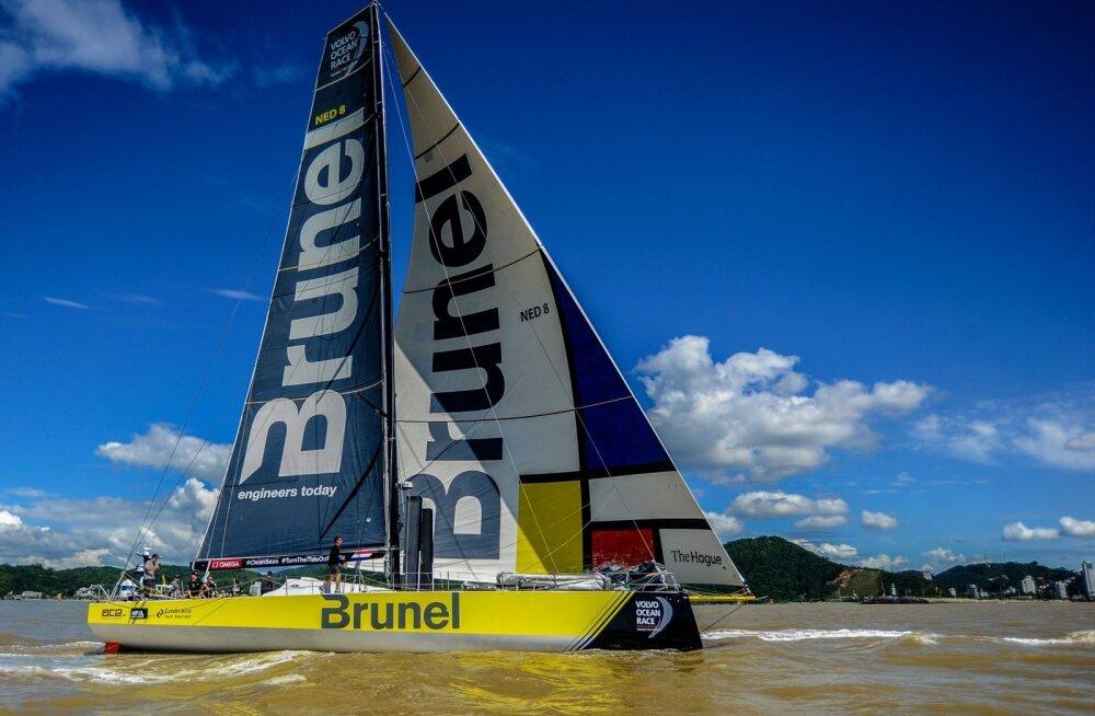 Volvo Ocean Race´il etapi võitnud Team Brunel