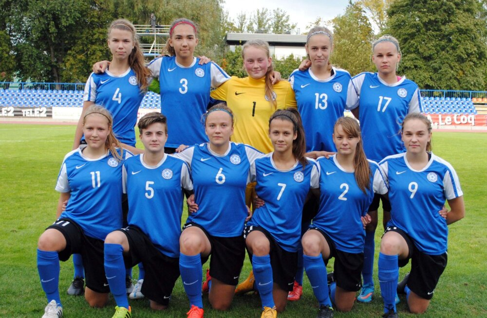 Eesti naiste U17 jalgpallikoondis.