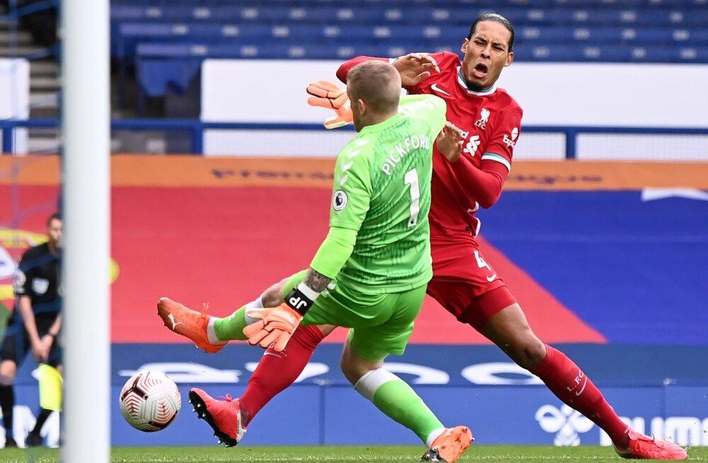 Jordan Pickford tegi Virgil van Dijki vastu jõhkra vea.