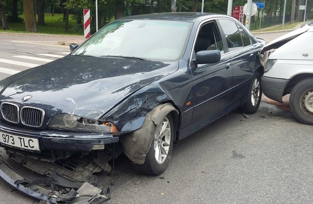 Liiklusõnnetus Tartus