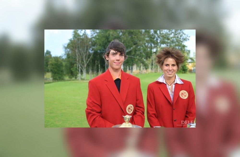 Golfi Estonian Amateur Open 2009 võitjad Anthony Netto ja Franziska Neef