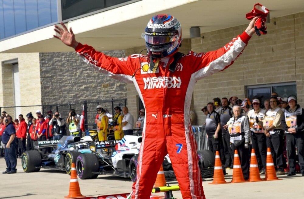 Kimi Räikkönen võib üle pika aja tõsiselt rõõmustada. Etapivõit on tõsiasi.