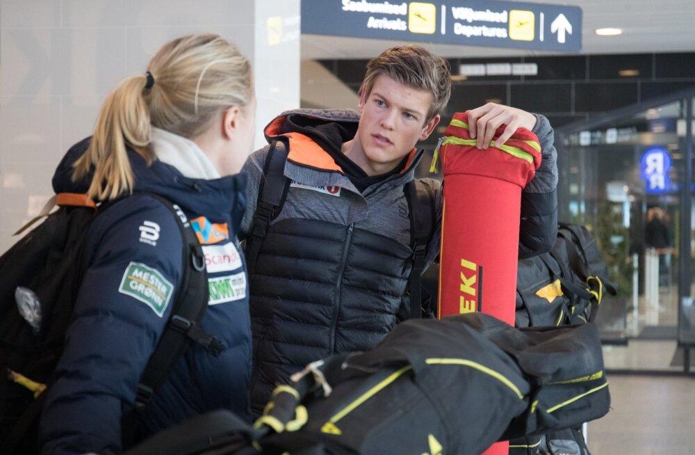 Norra suusastaarid Tallinna lennujaamas