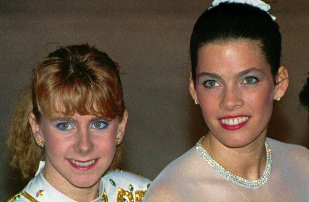 Tonya Harding (vasakul) ja Nancy Kerrigan 1992. aastal.