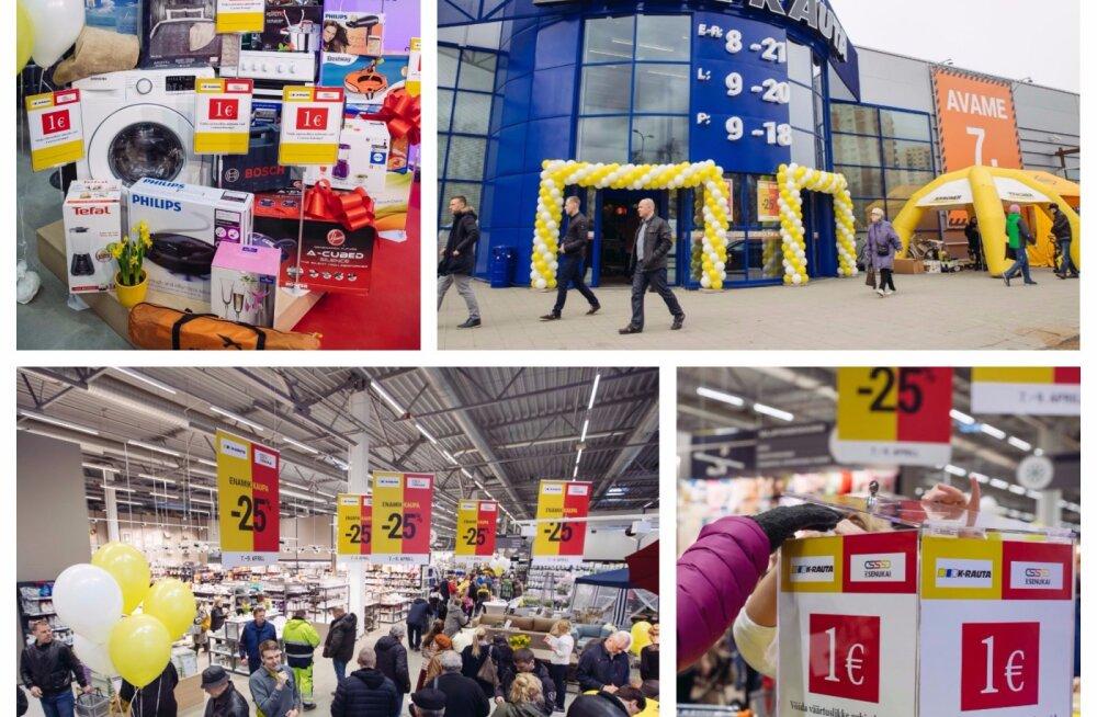 1-eurone kodutehnika tõi Haabersti K-rauta avamisele tuhandeid kliente