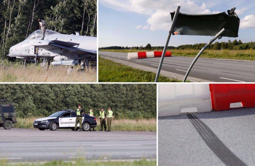 ФОТО: На учениях под Таллинном штурмовик США приземлился прямо на дорожный знак