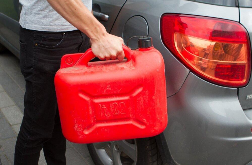 Kanister ja bensiin