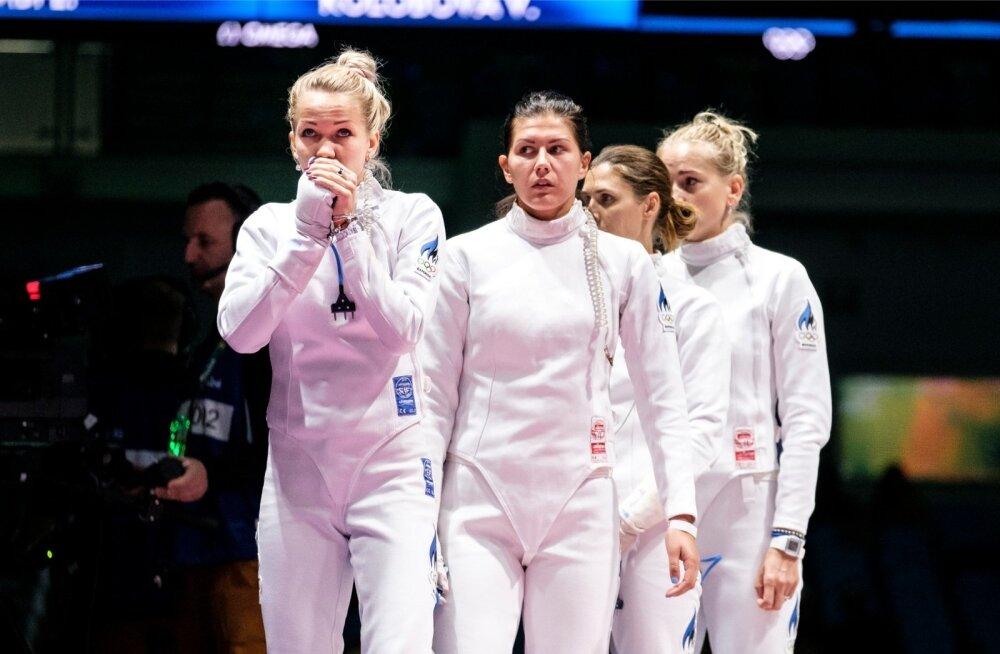 Eesti epeenaiskonnal – (vasakult) Erika Kirpu, Julia Beljajeva, Irina Embrich ja Kristina Kuusk – on käsil lahja hooaeg.