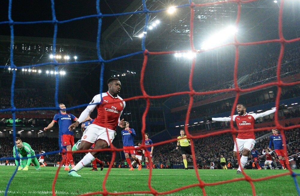 Arsenali jalgpallurid Danny Welbeck ja Alexandre Lacazette