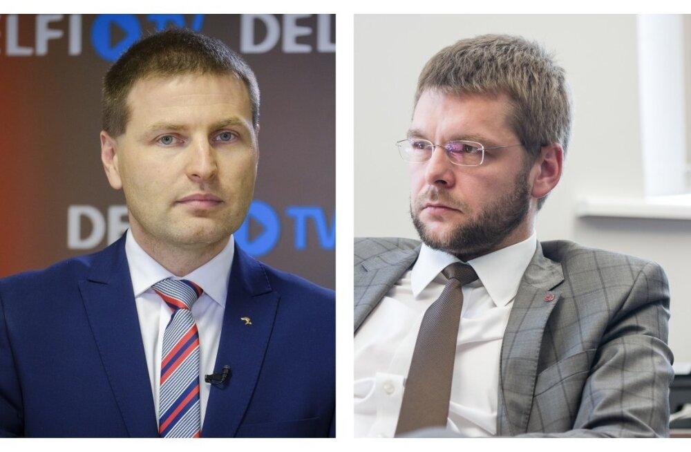 Hanno Pevkur ja Jevgeni Ossinovski