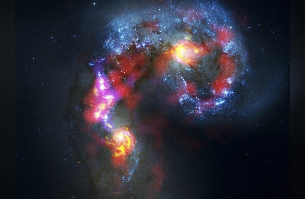ALMA teleskoobi tehtud pilt  Tundlate paarisgalaktikast. Foto HO, Reuters