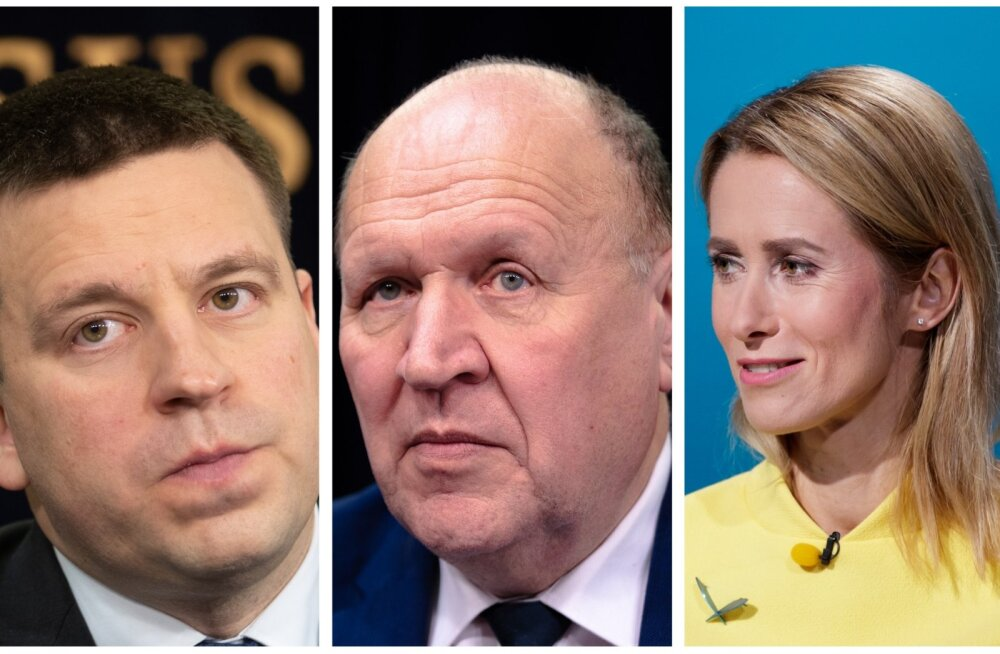Jüri Ratas, Mart Helme, Kaja Kallas