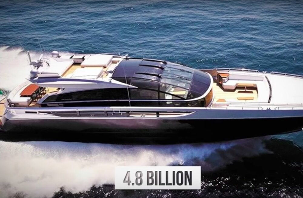 Nutma ajav VIDEO   Vaata, millised näevad välja 10 kõige kallimat luksusjahti maailmas