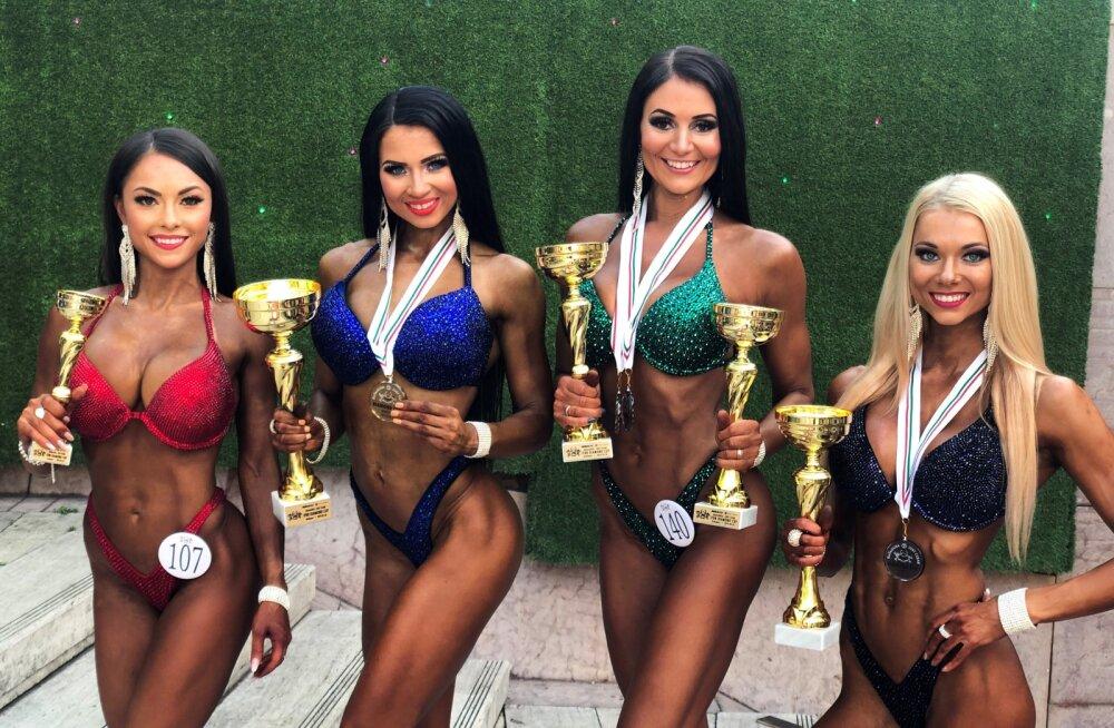 FOTOD | Medalisadu jätkub! Eesti bikiinifitnessi neiud võitsid Ungaris neli auraha