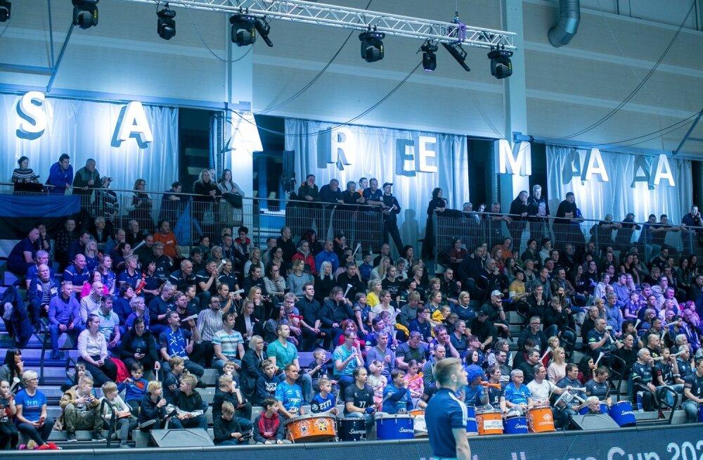 Saaremaa ja Milano mäng tõi kahel päeval järjest halli 1300 inimest.