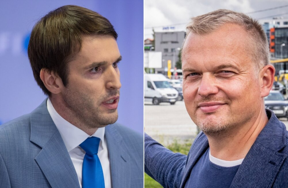 Vasakul Rainer Vakra, paremal Jaak Juske.