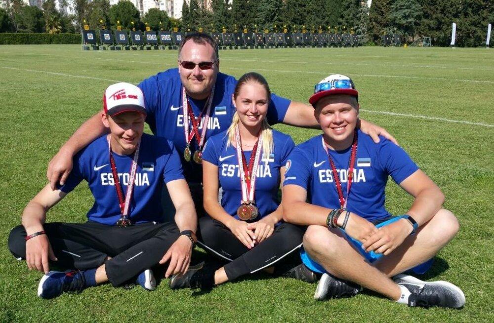 Medalistid - Oona, Kaasik, Parnat, Kivilo