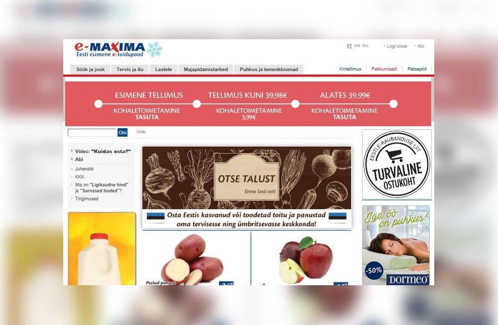 E-Maxima: клиенты все чаще предпочитают самостоятельно забирать заказанные товары