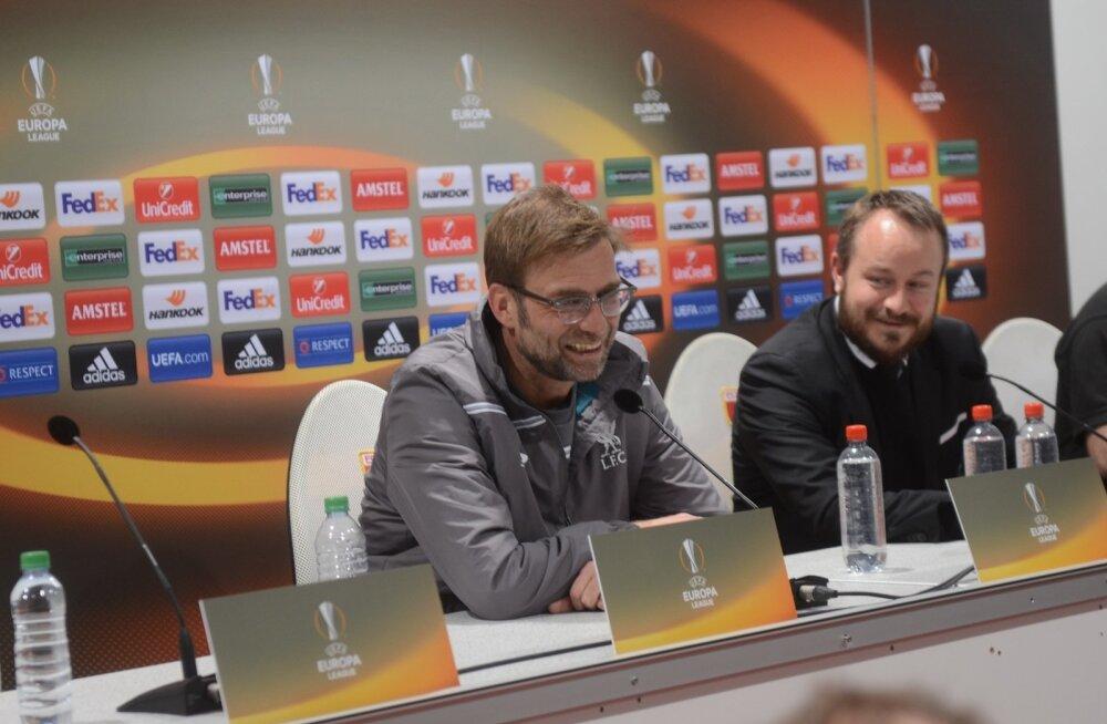 Jürgen Klopp pressikonverentsil