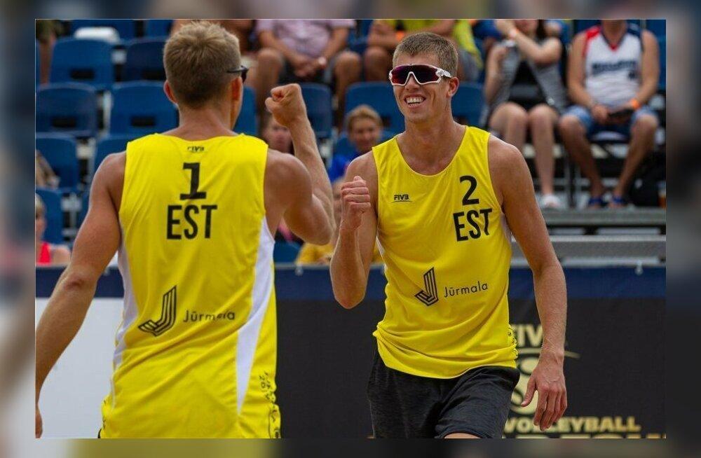 Eesti rannavollepaarid kohtuvad MK-etapi poolfinaalis omavahel