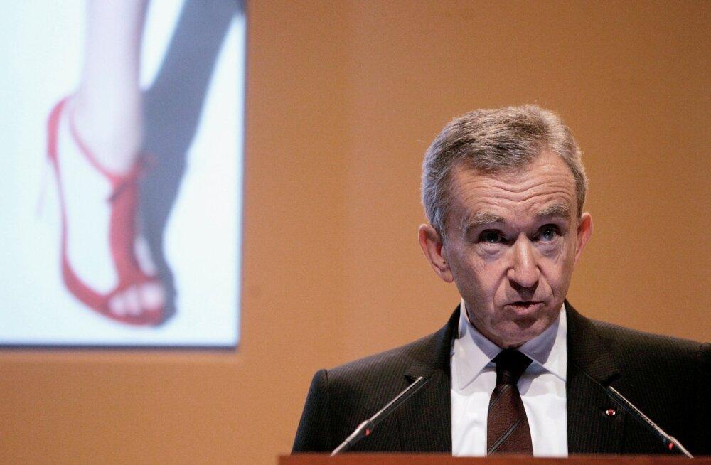 LVMH Moet Hennessy Louis Vuittoni juhatuse esimees Bernard Arnault on Euroopa rikkaim ja maailma rikkuselt kolmas.