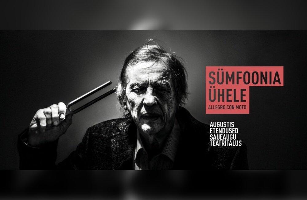 """Lavastus """"Sümfoonia ühele. Allegro con moto"""" Tartu Uues Teatris."""